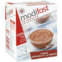 Modifast Intensive pudding chocloade 9X47g
